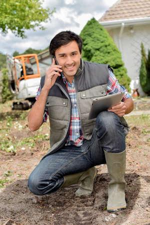 paysagiste: jardinier sophistiqué Banque d'images