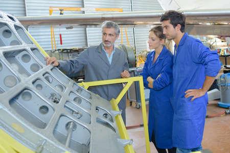 traineeship: apprentices with professional metallurgist