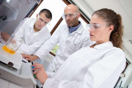 peers: university coworkerspharmacy medicine Stock Photo