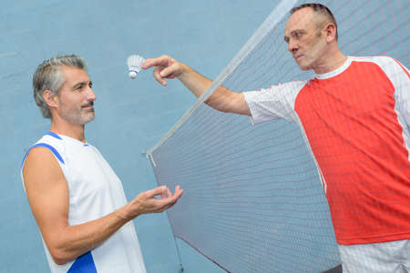 sportsperson: two badminton players