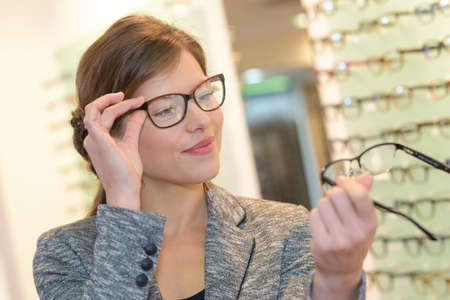 comparing two eyeglasses