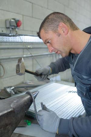 company job: bending a metal