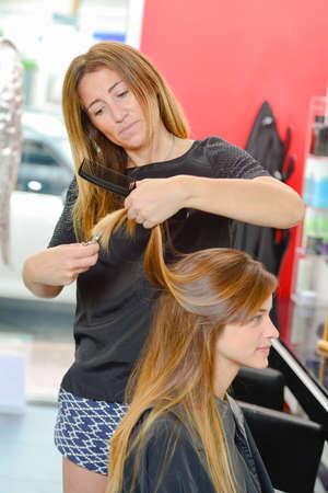 siervo: woman in salon Foto de archivo