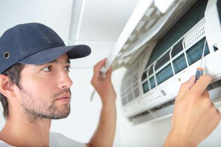 冷房の問題 写真素材