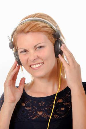 tunes: Listening to tunes Stock Photo