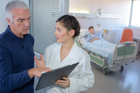medical questions: taking about the patients condition