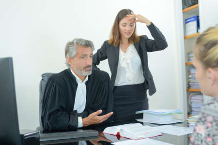 judge and client