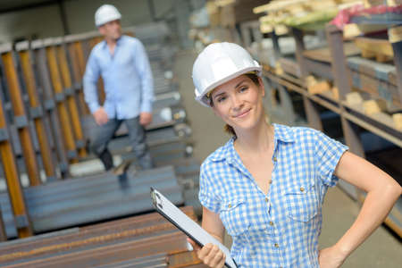 remediation: inventory in warehouse Stock Photo