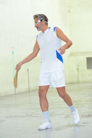 serf: man playing pala Stock Photo