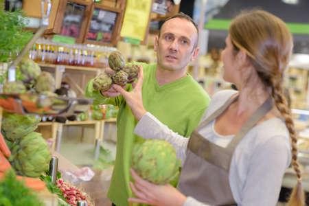 farm duties: display of artichoke