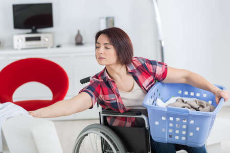 loneliness and handicap are not issues when you love life Stock Photo