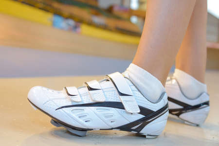 Closeup of cyling shoes Stock Photo