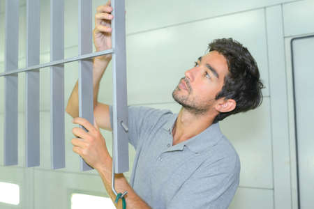 assembler: assembler at work Stock Photo
