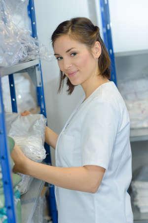 preparation of the fresh laundry