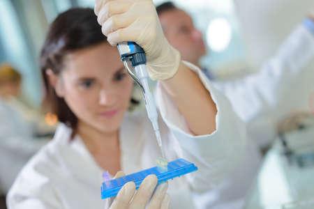 transferring the sample