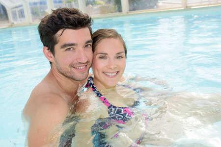 couple having a swim