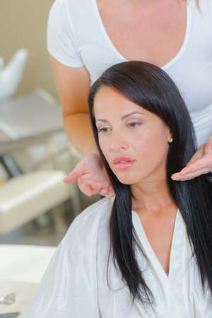esthetics: woman in salon Stock Photo