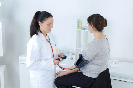 stress test: blood pressure measuring