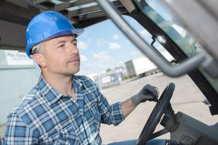 focused driver at work