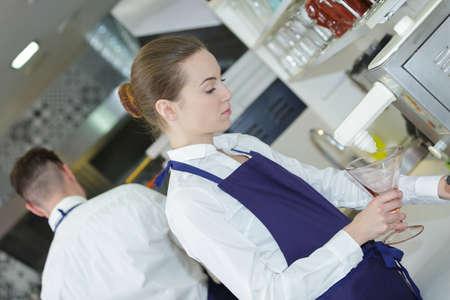siervo: usando una máquina de helados