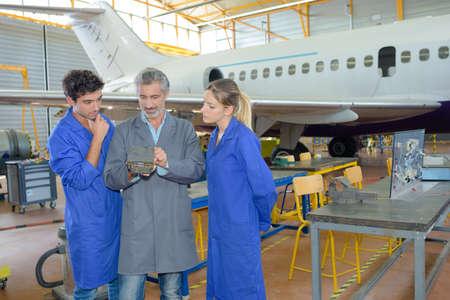 avionics: in the hangar