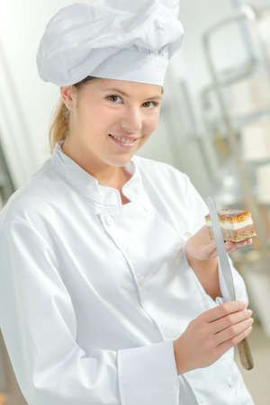 Confectioner proud of her pastry