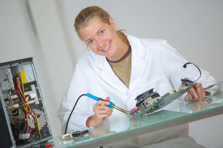 assembler: computer hardware assembler Stock Photo