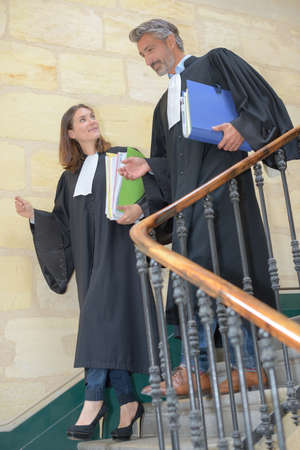 prosecute: judges meeting on the stairwell
