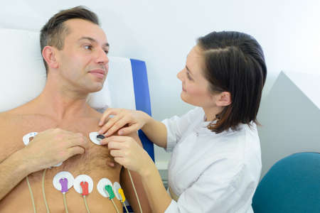 probing: in the hospital for tests Stock Photo