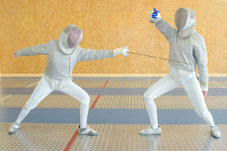 fencing sword: Fencing competition