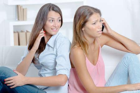 gossiping: Gossiping girls Stock Photo