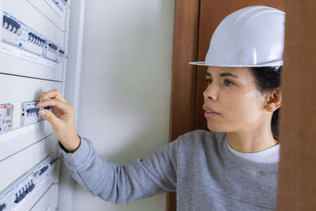 electricity company: inspection on the panel