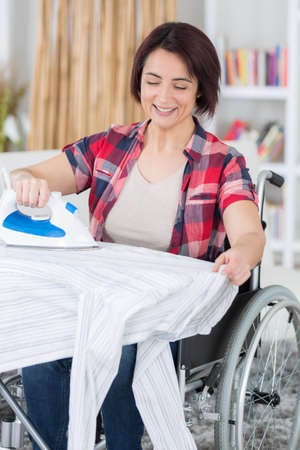 handicaped person must do her housekeeping herself