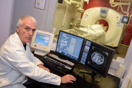 technologist: MRI technologist posing