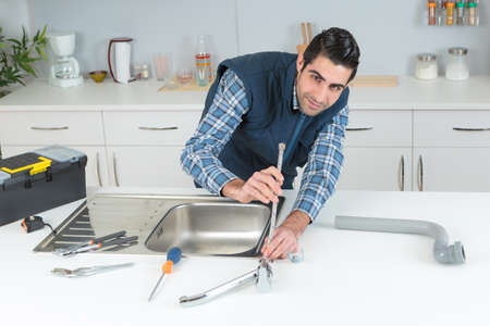 plumbing problem in the kitchen