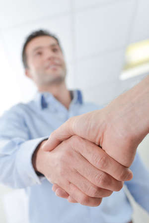 Man shaking hands