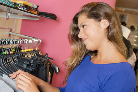 retail therapy: Woman trying out retail therapy