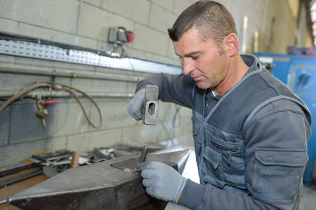 work worker: worker doing his work