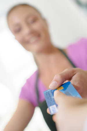 paying: Customer paying by card
