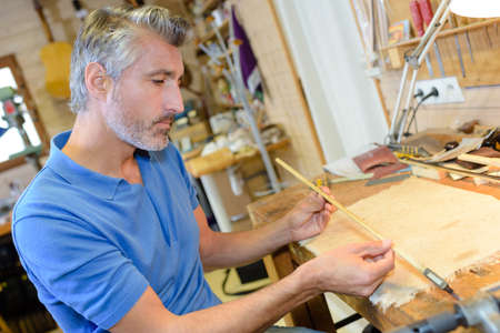 wooden stick: inspecting a wooden stick