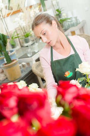 Working as a florist