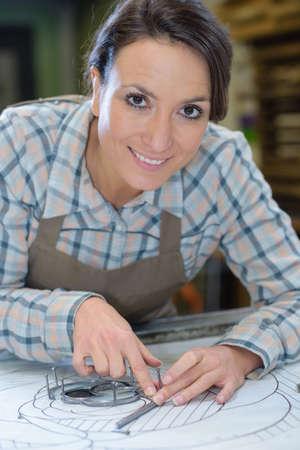 handywoman: Portrait of professional craft worker