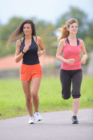 duration: two friends jogging