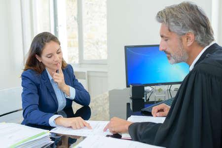 amendment: lawyer with judge