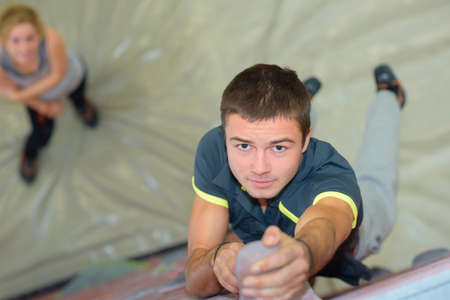 crack climb: strength in rock climbing