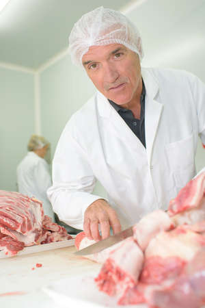 packer: meat packer at work