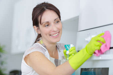 disinfecting: cleaner cleaning the oven
