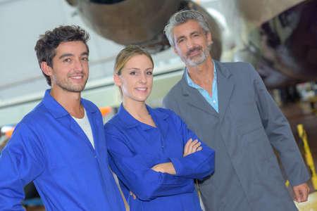 avionics team posing