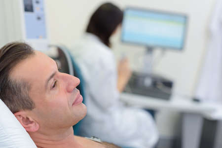 health technology: waiting for the CMR result Stock Photo