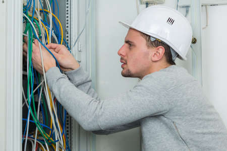 mounting: Electrician wiring